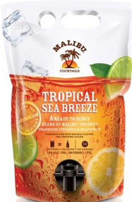 Malibu Cocktails Tropical Sea Breeze